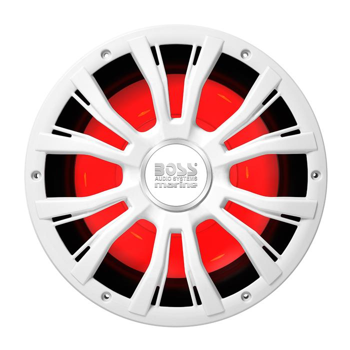 "Boss Audio MRG10W 10"" Marine 800W Subwoofer w-Multicolor Lighting - White [MRGB10W]"