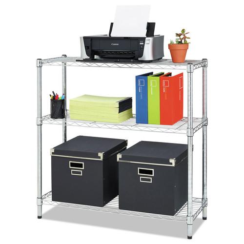 Alera ALESW833614SR Residential Wire Shelving Three-Shelf 36w x 14d x 36h Silver