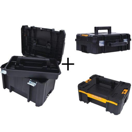 DEWALT TSTAK VI 17 in. Deep Tool Box, TSTAK II Deep Tool Box and TSTAK III Small Parts Organizer Combo Set (3 Components)