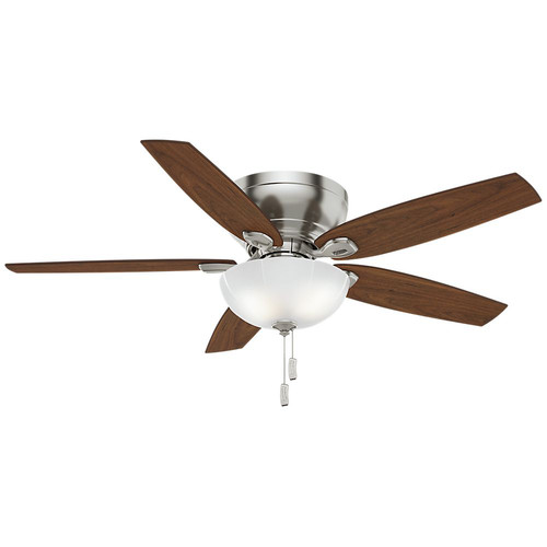 Casablanca 54101 Durant 54 in. Transitional Brushed Nickel Walnut Indoor Ceiling Fan
