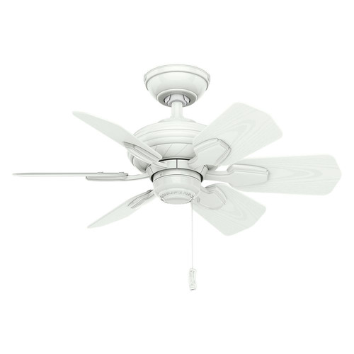 Casablanca 59523 31 in. Traditional Wailea Snow White Outdoor Ceiling Fan
