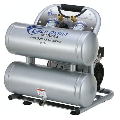California Air Tools 4610AC 1 HP 4.6 Gallon Ultra Quiet Aluminum Twin Tank Air Compressor