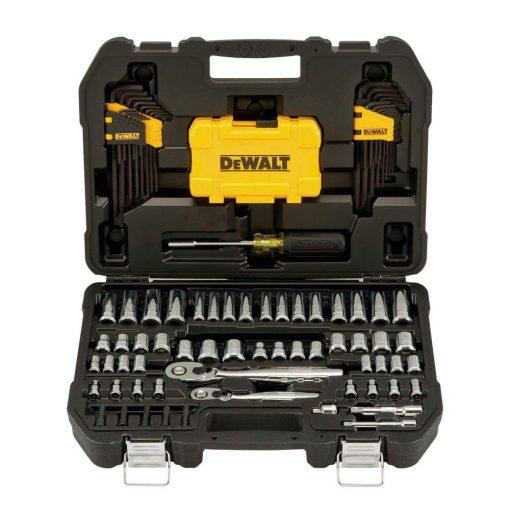 DEWALT 1/4 in. x 3/8 in. Drive Polished Chrome Mechanics Tool Set (108-Piece)