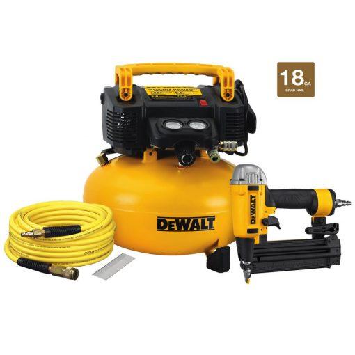 DEWALT 18-Gauge Brad Nailer and 6 Gal. Heavy Duty Pancake Electric Air Compressor Combo Kit (1-Tool)