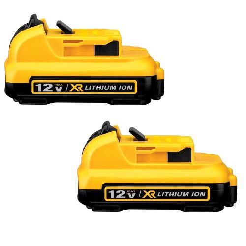 Dewalt DCB127-2 12V MAX 2.0 Ah Lithium-Ion Battery (2-Pack)