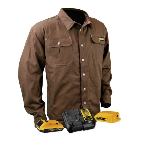 Dewalt DCHJ081TD1-M 20V Li-Ion Heavy Duty Shirt Heated Jacket Kit - Medium
