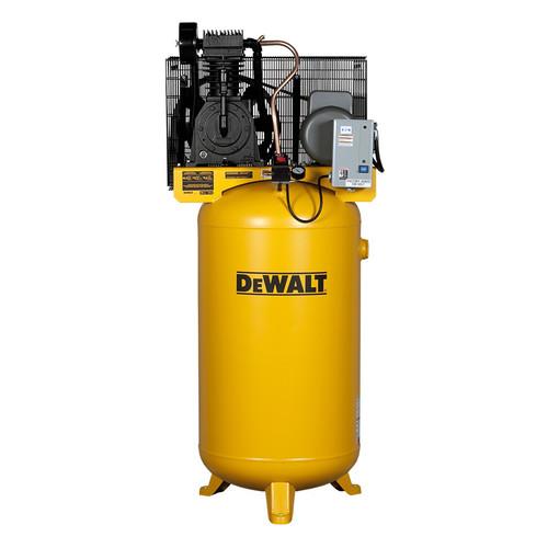 Dewalt DXCMV5018055 5 HP 80 Gallon Baldor Two Stage Oil-Lube Industrial Air Compressor