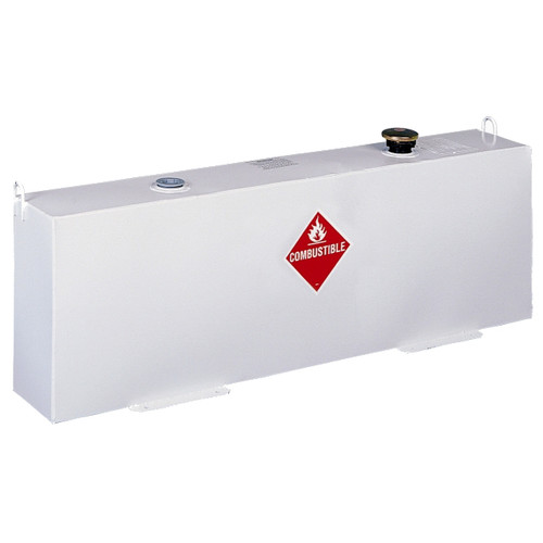JOBOX 572002D 37 Gallon Vertical Steel Liquid Transfer Tank - White