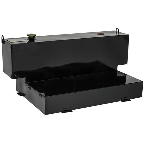 JOBOX 574003D 98 Gallon Short-Bed L-Shaped Steel Liquid Transfer Tank - Black