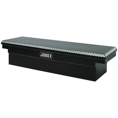 JOBOX PAC1580002 Aluminum Single Lid Full-size Crossover Truck Box (Black)