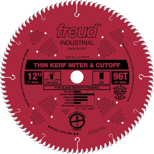 Freud LU74R012 12 in. 96 Tooth Thin Kerf Ultimate Cut-Off Saw Blade