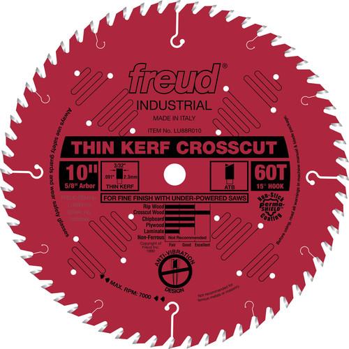 Freud LU88R010 10 in. 60 Tooth Thin Kerf Fine Finish Crosscut Saw Blade