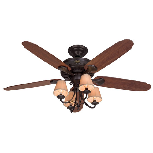Hunter 53094 54 in. Cortland New Bronze Ceiling Fan with Light