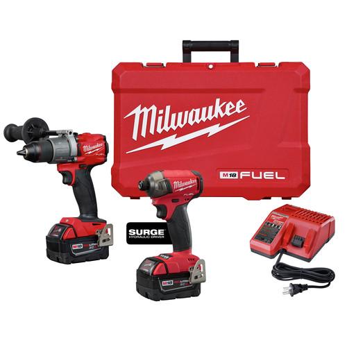 Milwaukee 2999-22 M18 FUEL 2-Tool Hammer Drill & SURGE Hydraulic Driver Combo Kit