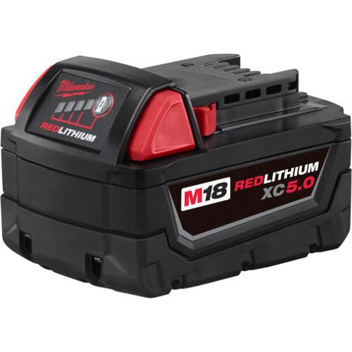 Milwaukee 48-11-1850 M18 18V REDLITHIUM XC5.0 Extended Capacity Battery Pack