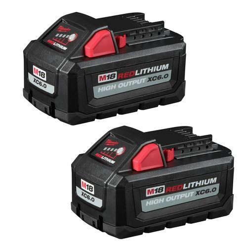 Milwaukee 48-11-1862 M18 REDLITHIUM HIGH OUTPUT XC6.0 Battery 2-Pack