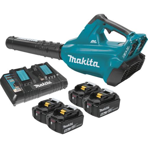 Makita XBU02PT1 18V X2 (36V) LXT Lithium-Ion Brushless Cordless Blower Kit with 4 Batteries (5.0Ah)