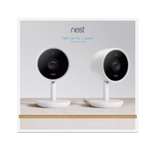 Nest Cam Indoor IQ Smart Wi-Fi Security Camera (2-Pack)
