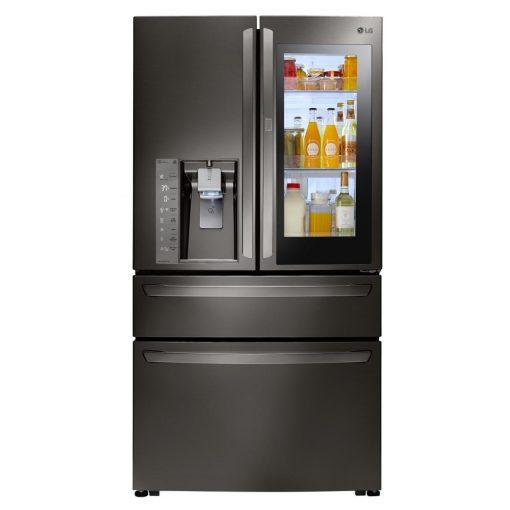 LG Electronics 30 cu. ft. 4-Door French Door Smart Refrigerator with InstaView Door-in-Door and Wi-Fi Enabled in Black Stainless Steel