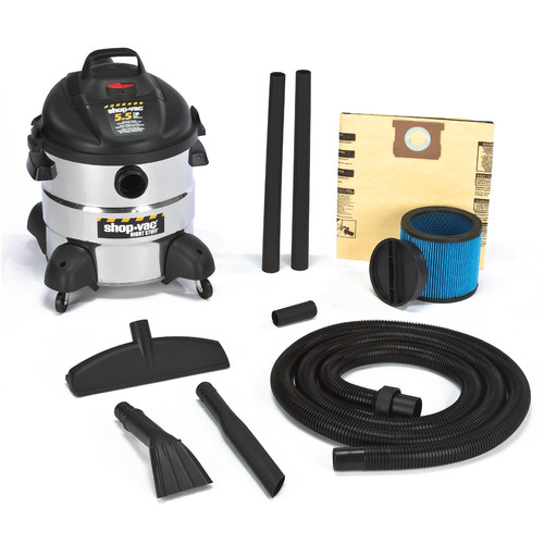 Shop-Vac 5875110 8 Gallon 5.5 Peak HP Stainless Steel Right Stuff Wet/Dry Vacuum