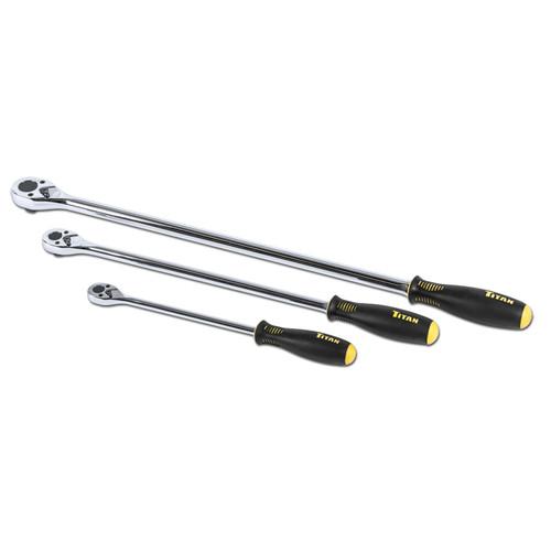 Titan 11360 3-Piece Extra Long Slim Head Ratchet Set