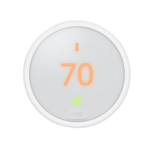 Nest Thermostat E Smart Wi-Fi Programmable Thermostat, White