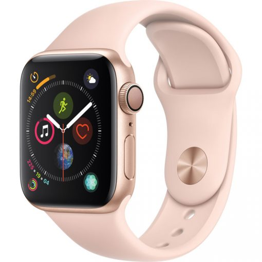 Apple Watch Series 4 (GPS Only, 40mm, Gold Aluminum, Pink Sand Sport Band)