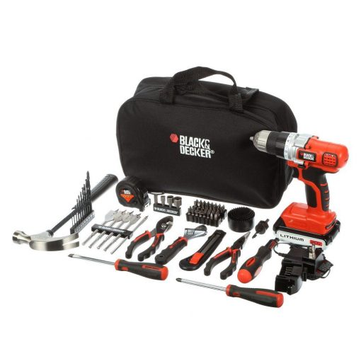 BLACK+DECKER 20-Volt MAX Lithium-Ion Cordless Drill and Project Kit with Battery 1.5Ah, Charger and Kit Bag