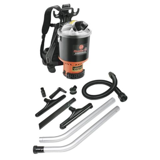 Hoover Commercial Shoulder Vac Pro Backpack Vacuum Cleaner with 1-1/2 in. Attachment Kit