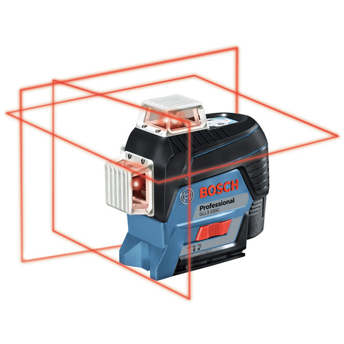Factory Reconditioned Bosch GLL3-330C-RT 360-Degrees Connected Three-Plane Leveling and Alignment-Line Laser