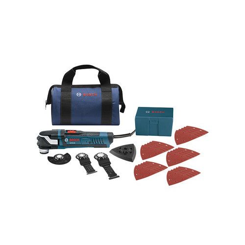 Factory Reconditioned Bosch GOP40-30B-RT Multi-X 3.0 Amp StarlockPlus Oscillating Tool Kit w/Snap-In Blade Attachment