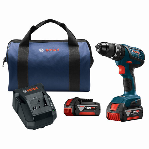 Factory Reconditioned Bosch HDS181A-01-RT 18V 4.0 Ah Cordless Lithium-Ion 1/2 in. Hammer Drill Driver Kit