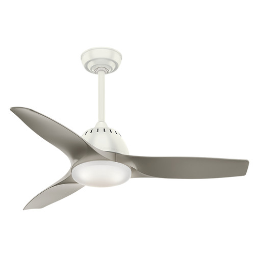 Casablanca 59149 Wisp 44 in. Fresh White Indoor Ceiling Fan with Light and Remote