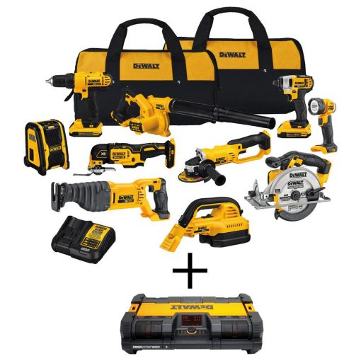 DEWALT 20-Volt Max Lithium Ion Cordless Combo Kit with Bonus ToughSystem Radio/Charger with Bluetooth (10-Tool)