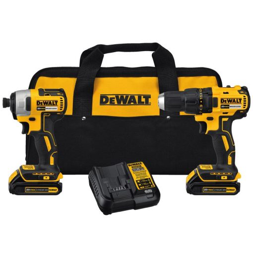DEWALT 20-Volt MAX Lithium-Ion Cordless Brushless Drill/Driver and Impact Combo Kit (2-Tool) w/(2) Batteries 1.5Ah and Charger