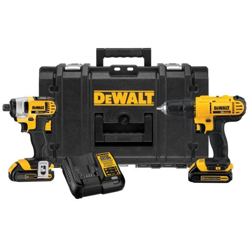 DEWALT 20-Volt MAX Lithium-Ion Cordless Drill/Driver and Impact Combo Kit (2-Tool) with (2) Batteries 1.5Ah, Charger and Case