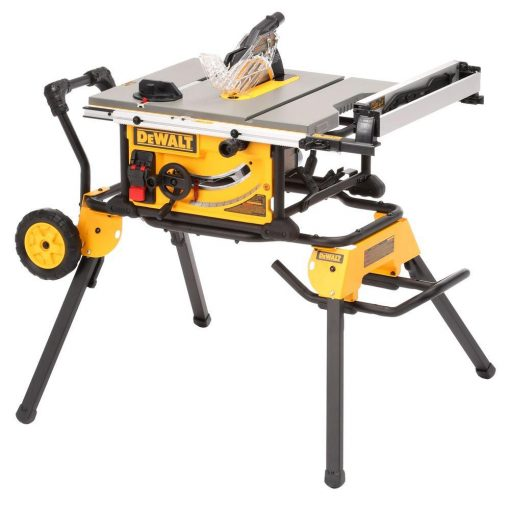 DEWALT 15-Amp Corded 10 in. Job Site Table Saw with Rolling Stand