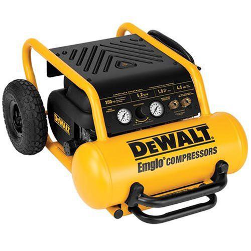 Dewalt D55146 1.6 HP 4.5 Gallon Oil-Free Wheeled Portable Air Compressor