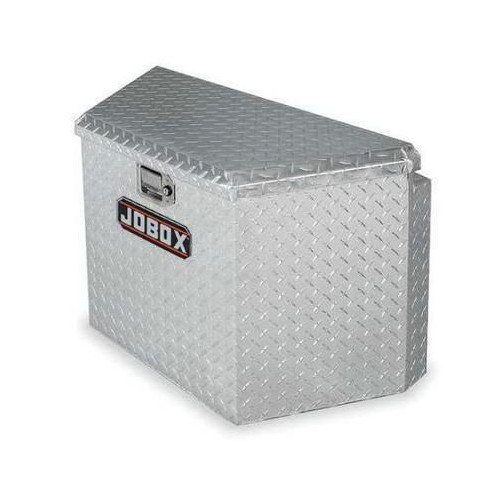 JOBOX 415000D 33 in. Long Aluminum Trailer Tongue Box - Bright