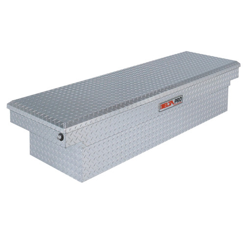 Delta PAC1599000 Aluminum Single Lid Deep & Extra-Wide Full-size Crossover Truck Box (Bright)
