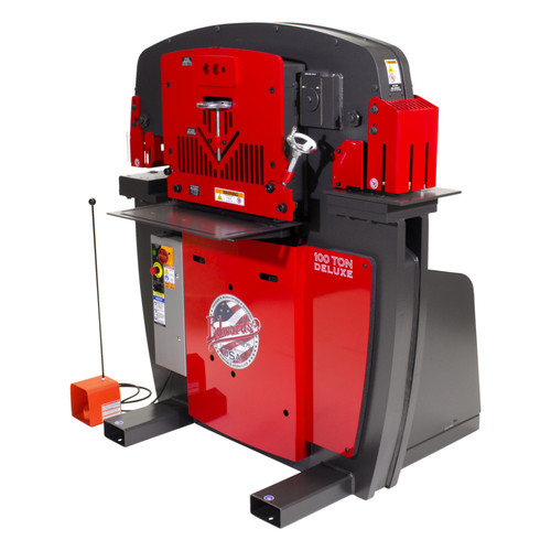 Edwards IW100DX-3P230-AC 230V 3-Phase 100 Ton Deluxe JAWS Ironworker with Hydraulic Accessory Pack