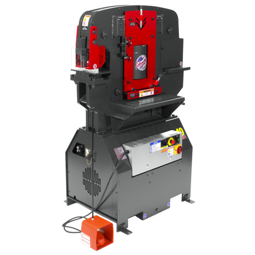 Edwards IW40-3P460-AC400 460V 3-Phase 40 Ton JAWS Ironworker with Hydraulic Accessory Pack