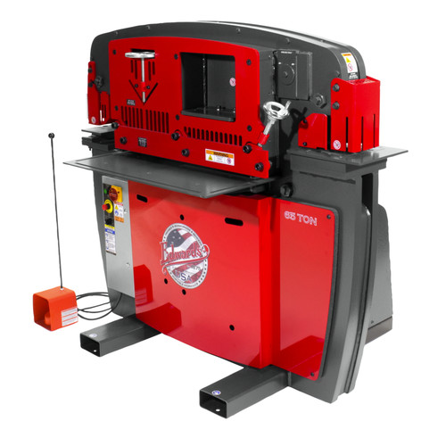 Edwards IW65-3P460-AC600 460V 3-Phase 65 Ton JAWS Ironworker with Hydraulic Accessory Pack