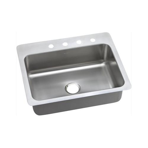 Elkay DSESR127221 Dayton Elite Universal Mount 27 in. x 22 in. Single Basin Kitchen Sink (Steel)
