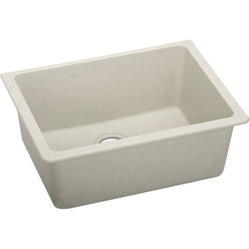 Elkay ELGU2522BQ0 Quartz Undermount 24-5/8 in. x 18-1/2 in. Single Bowl Sink (Bisque)