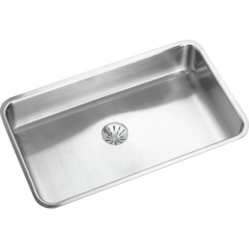 Elkay ELUHAD281655PD Lustertone Undermount 30-1/2 in. x 18-1/2 in. Single Bowl ADA Sink with Perfect Drain (Stainless Steel)