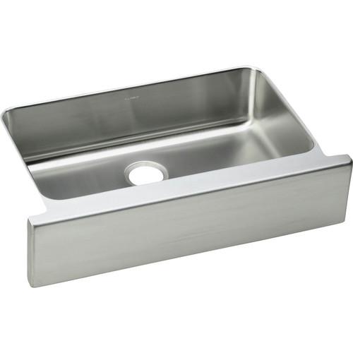 Elkay ELUHFS2816 Lustertone 33 in. x 20-1/2 in. Single Bowl Farmhouse Sink (Stainless Steel)