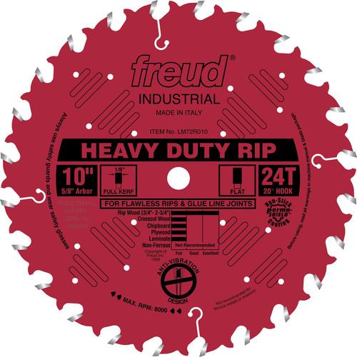 Freud LM72R010 10 in. 24 Tooth Heavy-Duty Rip Saw Blade