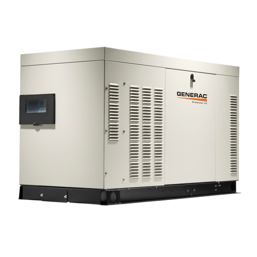 Generac RG02224ANAX Protector QS 120/240V 2.4L 22 kW Single Phase Liquid-Cooled LP/Natural Gas Aluminum Automatic Standby Generator