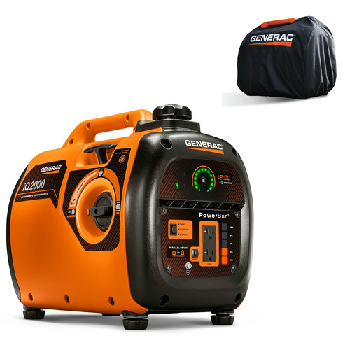 Factory Reconditioned Generac 6901R iQ2000 Inverter Generator 6866 with Storage Cover 6875 Combo Kit